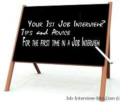 tips for first interview job