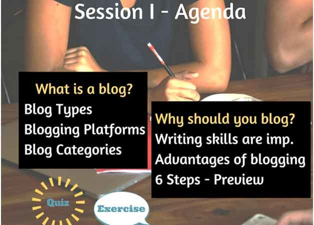 Business blogging for beginners session 1