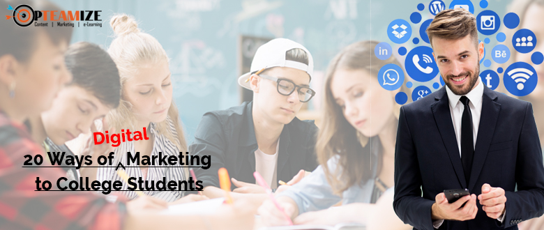 digital marketing to college students